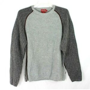 CHAPS Wool Blend Sweater Size Large Men's Gray